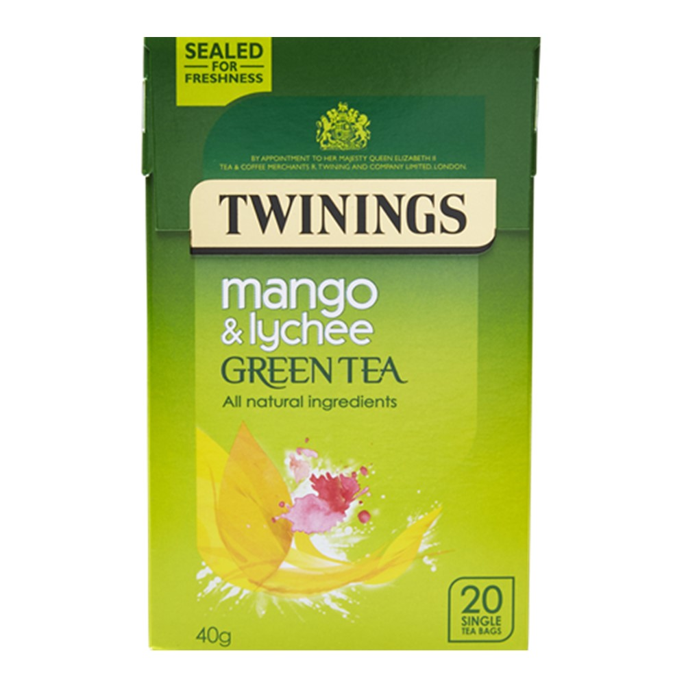 Twinings Green Tea Mango & Lychee - case 4x20 tea bags