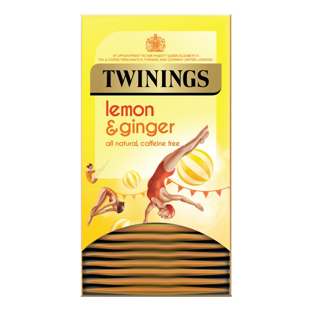 Twinings Lemon & Ginger - 20 tea bags in envelopes