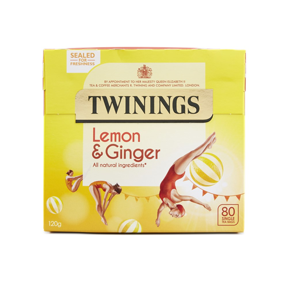 Twinings Lemon & Ginger - 80 tea bags