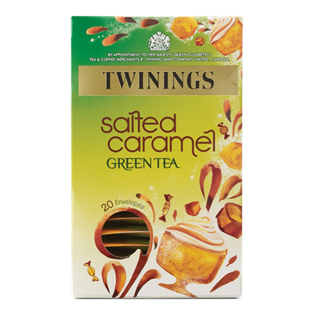 Twinings Green Tea & Salted Caramel - 20 tea bags in envelopes
