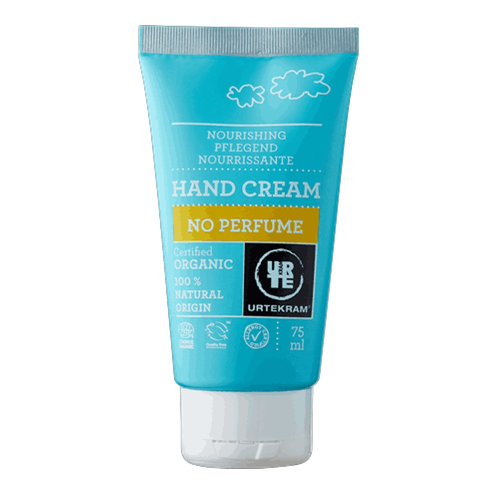 Urtekram Hand Cream No Perfume -  75ml tube [ORG & VEGAN]