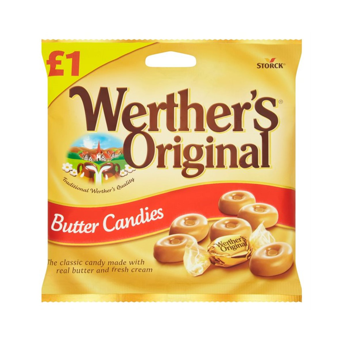 Werther's Original Butter Candies [Wrapped] - 12x110g packets