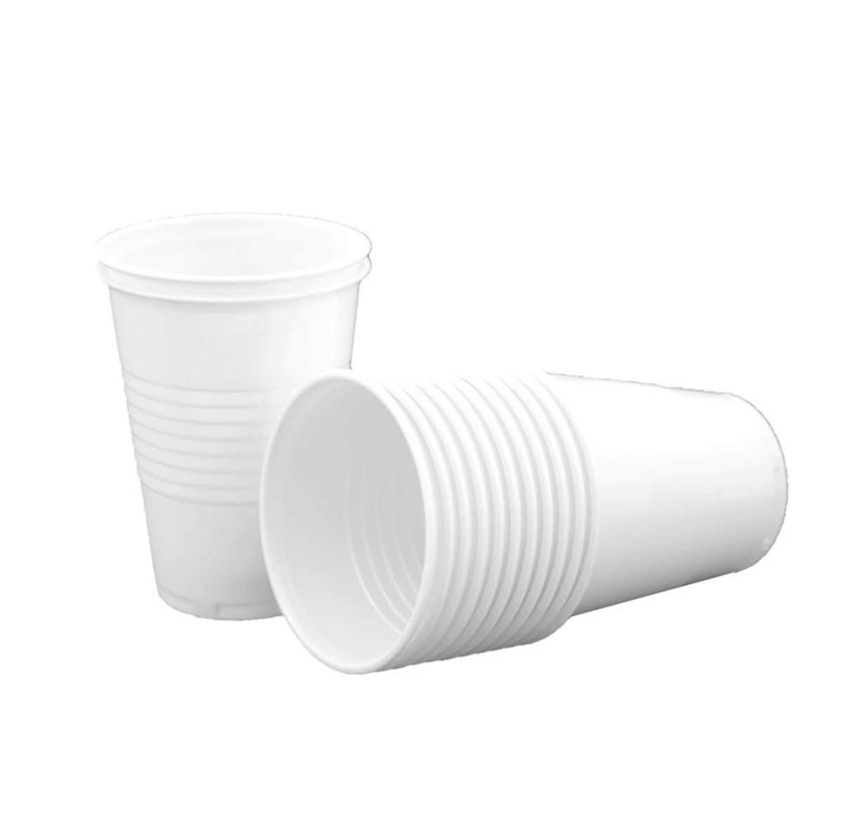 RY Caterpack Plastic Cups [white] - 20cl cups **